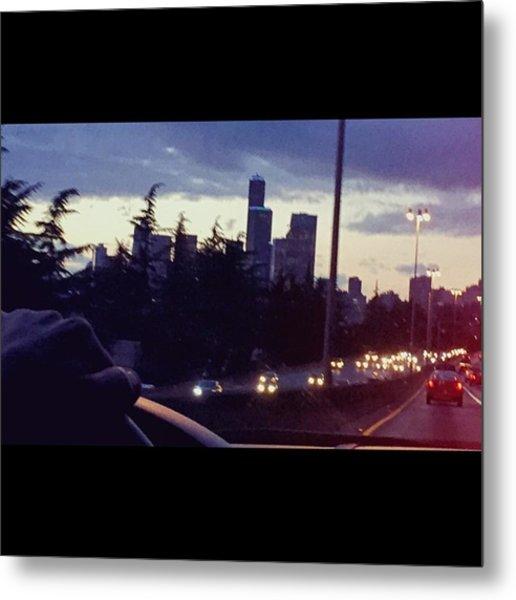 Drive Thru Seattle #enlight #highway Metal Print