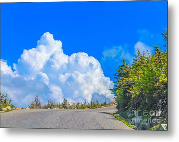 Driving Into The Clouds Metal Print
