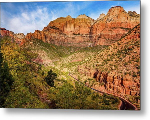 Driving Into Zion Metal Print