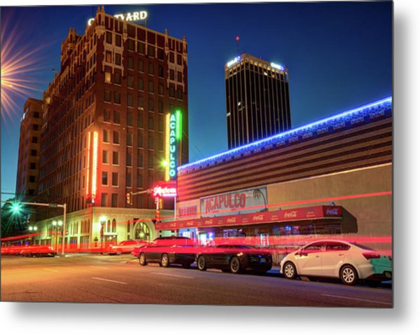 Driving Through Downtown Amarillo Texas  Metal Print by Gregory Ballos