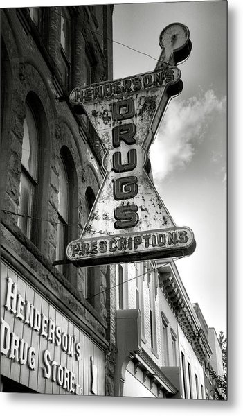Drug Store Sign Metal Print