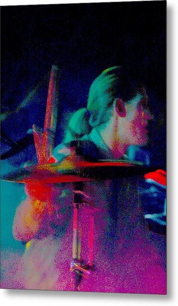 Drummer  Metal Print by Tommy Simpson