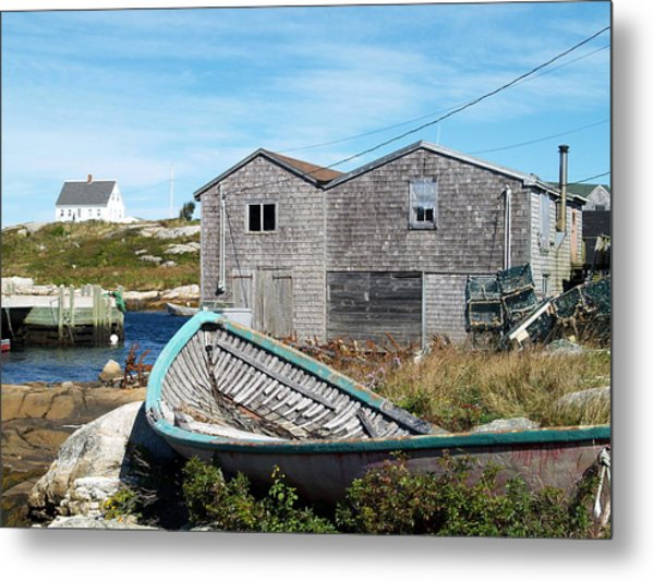 Dry Dock At Peggy's Cove Metal Print by Richard Mansfield