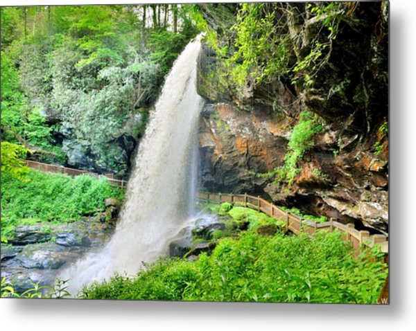 Metal Print featuring the photograph Dry Falls Highlands North Carolina 2 by Lisa Wooten