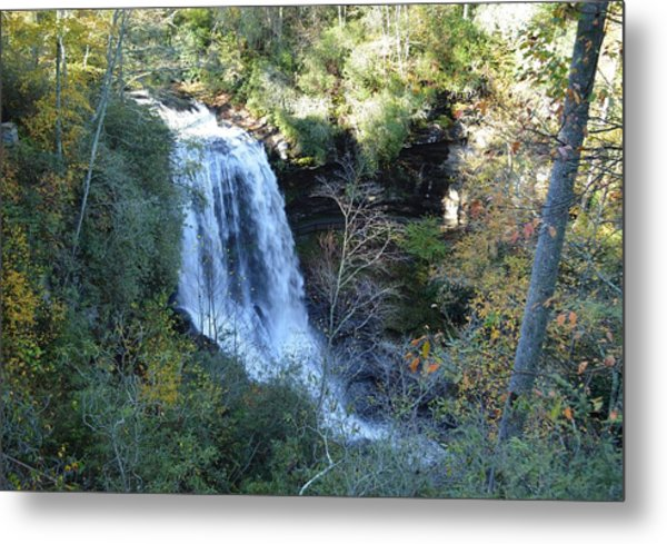 Dry Falls Waterfall North Carolina Metal Print by rd Erickson