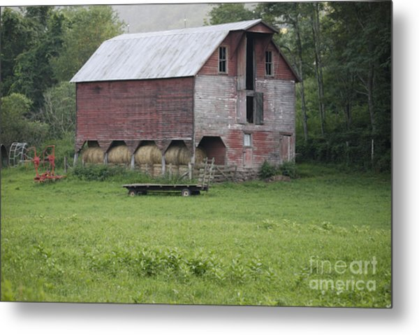 Dry Fork Red Metal Print