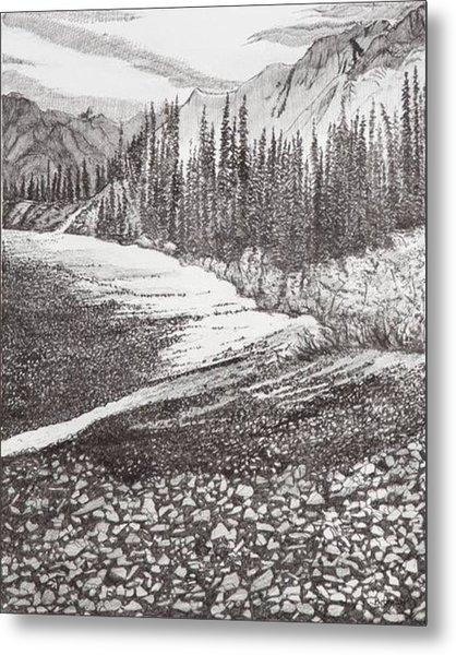 Dry Riverbed Metal Print