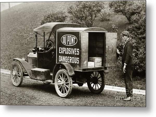Du Pont Co. Explosives Truck Pennsylvania Coal Fields 1916 Metal Print