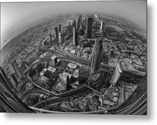Dubai At The Top Metal Print by Robert Work
