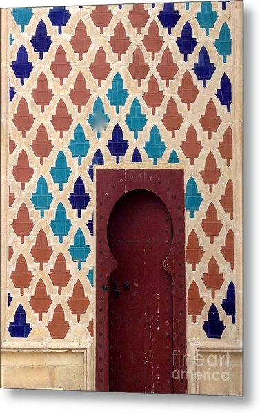Dubai Doorway Metal Print