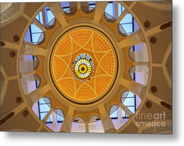 Metal Print featuring the photograph Dubai Mall Dome  by Juergen Held