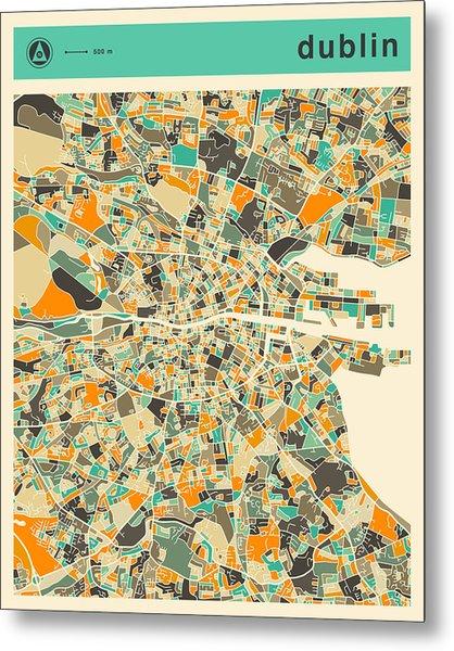 Dublin Map 2 Metal Print