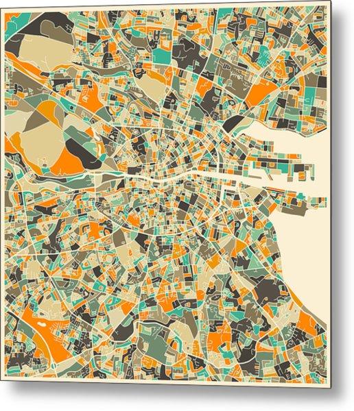 Dublin Map Metal Print