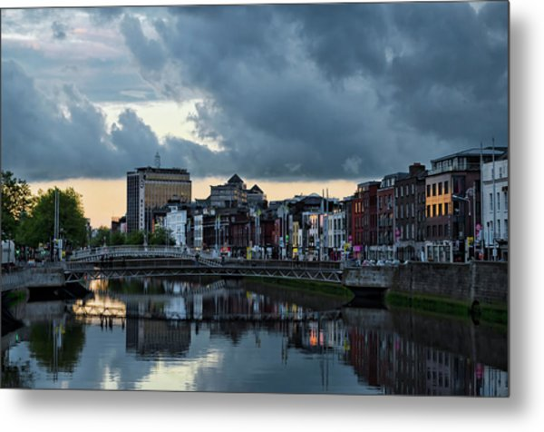 Dublin Sky At Sunset Metal Print