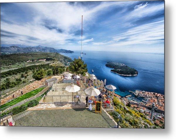 Dubrovnik Croatia - Lovely Cafe Up On Srd Hill Metal Print