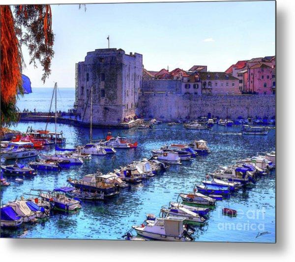 Dubrovnik Harbour Metal Print
