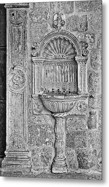 Dubrovnik Wall Art - Black And White Metal Print