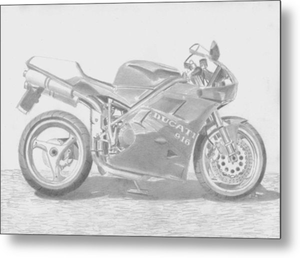 Ducati 916 Motorcycle Art Print Drawing By Stephen Rooks