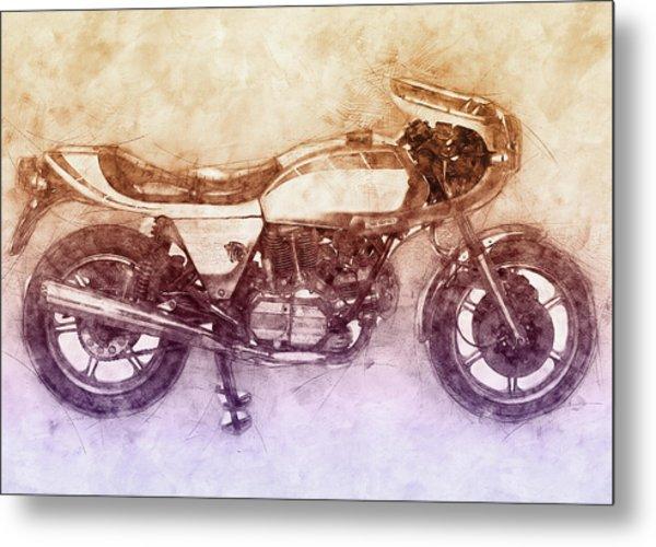 Ducati Supersport 2 - Sports Bike - 1975 - Motorcycle Poster - Automotive Art Metal Print