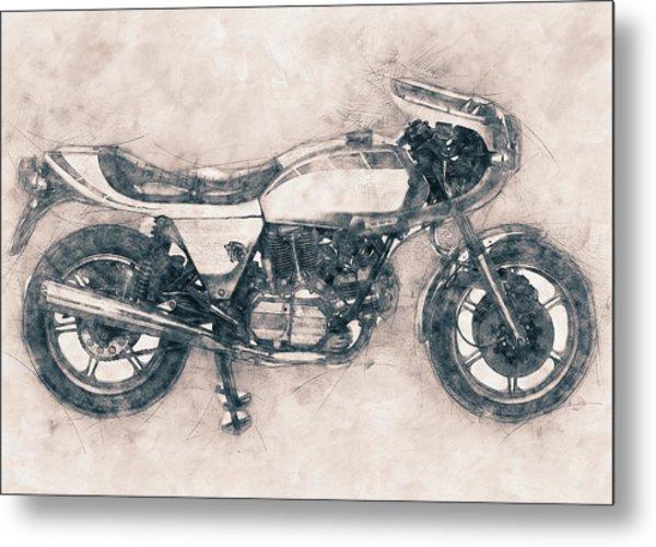 Ducati Supersport - Sports Bike - 1975 - Motorcycle Poster - Automotive Art Metal Print