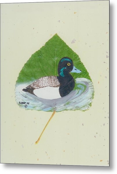 Duck On Pond #2 Metal Print