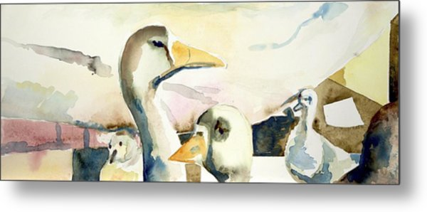 Ducks And Geese Metal Print