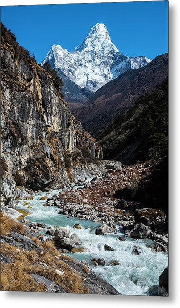 Metal Print featuring the photograph Dudh Kosi River By Ama Dablam by Owen Weber