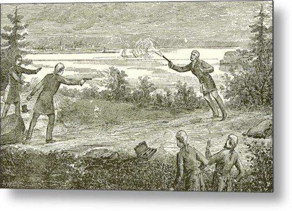 Duel Between Alexander Hamilton And Aaron Burr Metal Print