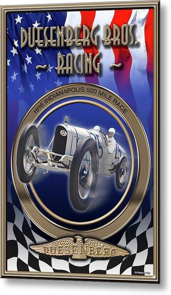 Duesenberg Bros. Racing Metal Print