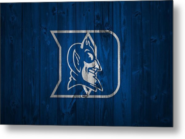 Duke Blue Devils Barn Door Metal Print