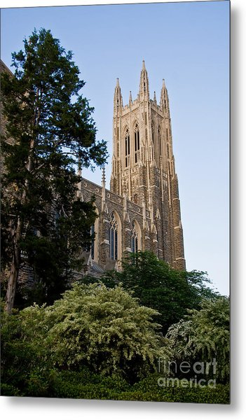 Duke Chapel Side View Metal Print