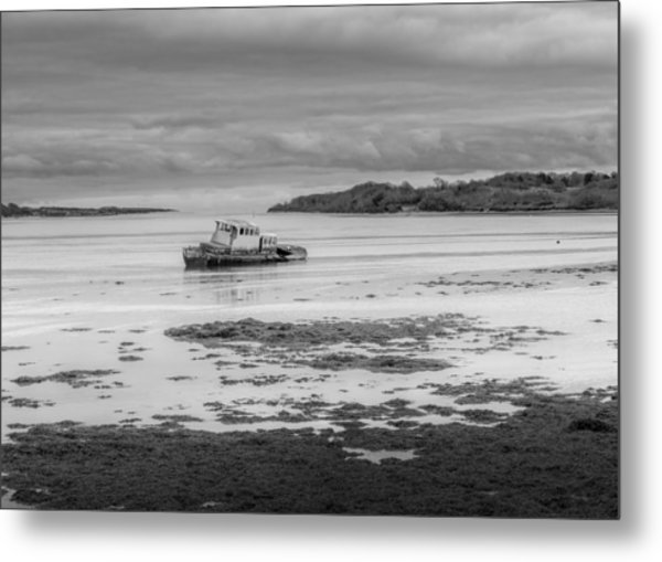 Dundrum The Old Boat Wreck Metal Print