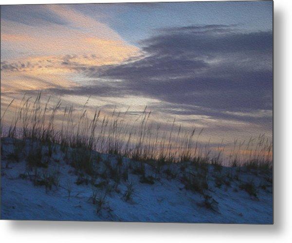 Dune Grass Blue Metal Print