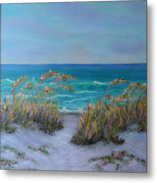 Dunes Path Ocean Painting Part 1 Metal Print