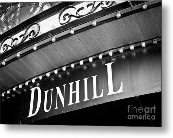 Dunhill Bw Metal Print