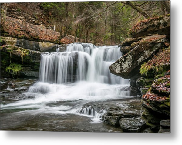 Dunloup Creek Falls Metal Print