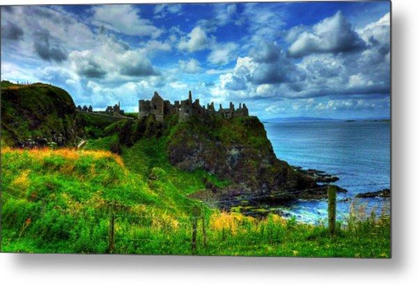 Dunluce Castle Metal Print by Kim Shatwell-Irishphotographer