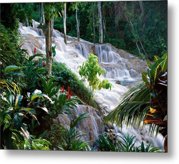 Dunn's River Falls Jamaica Metal Print