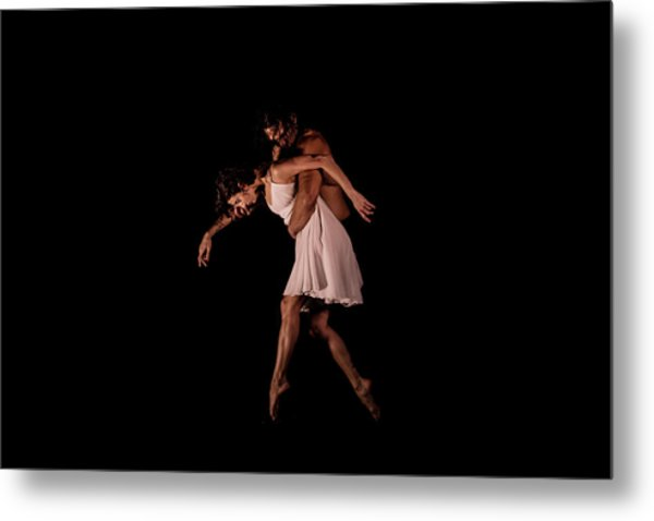 Duo In The Black Box Metal Print