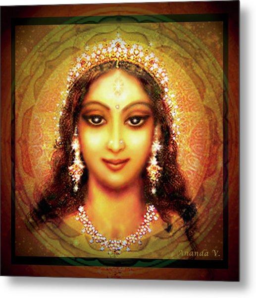 Durga In The Sri Yantra Metal Print