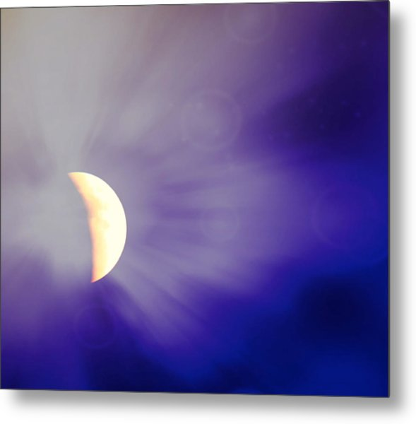 Aries Moon During The Total Lunar Eclipse 3 Metal Print