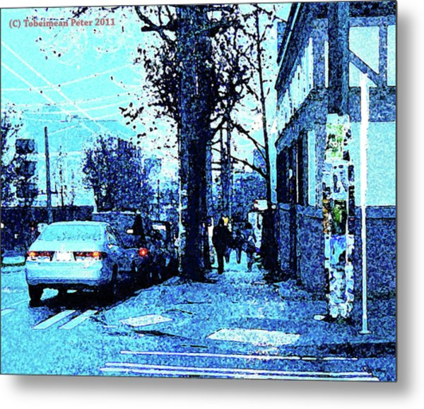 Dusk 14th And Pine Metal Print