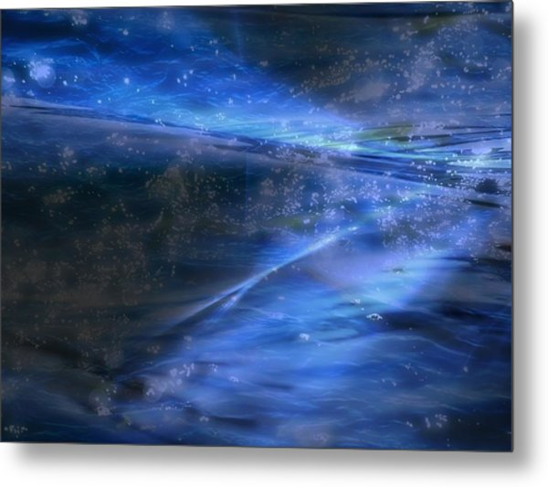 Dusk And Planets Metal Print