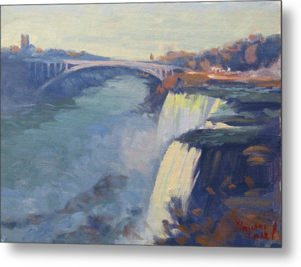 Dusk At Niagara Falls Metal Print