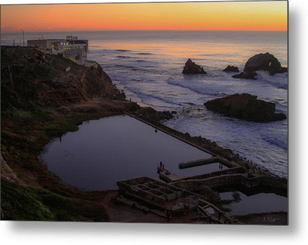 Dusk At Sutro Baths Metal Print
