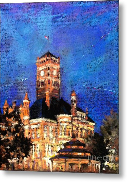 Dusk At The Courthouse Square Metal Print