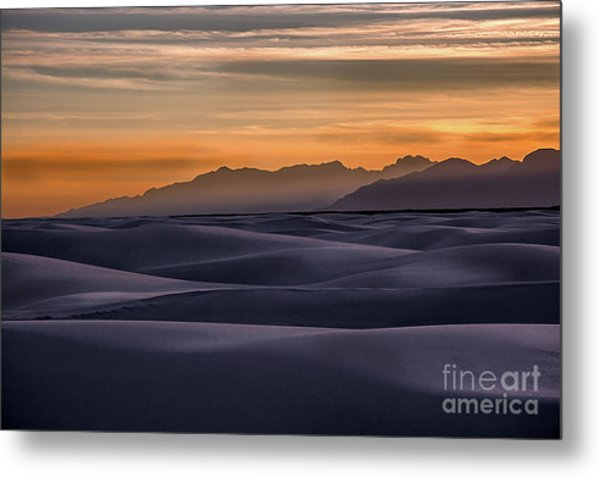 Dusk At White Sands Metal Print