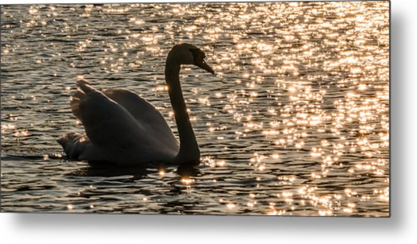 Dusk Descends On The Waters Metal Print