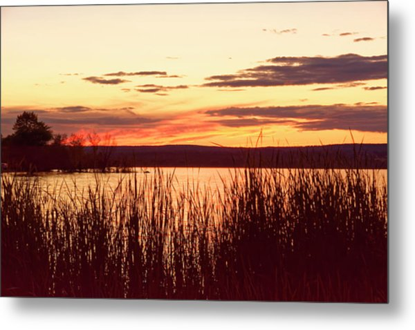dusk on Lake Superior Metal Print