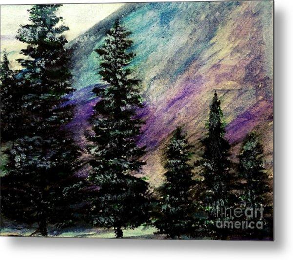 Dusk On Purple Mountain Metal Print